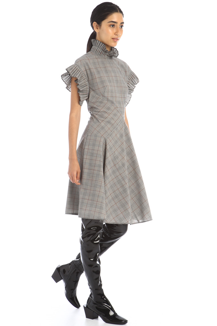 Flared wool canvas dress Intrend