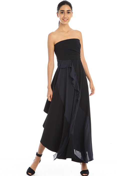 Satin and georgette dress Intrend