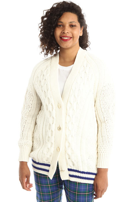 Cable-knit wool cardigan Intrend