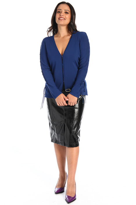 Laced-up viscose cardigan Intrend