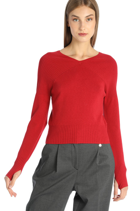 Fitted cotton sweater Intrend