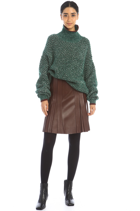 Pleated leather skirt Intrend