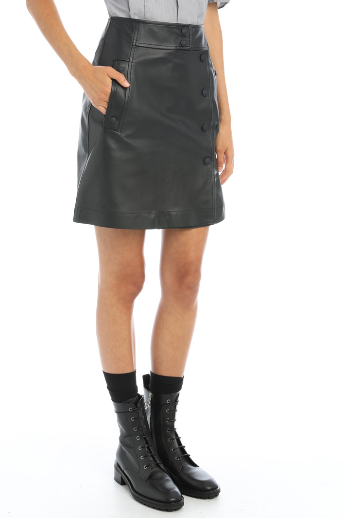 Wrap-up leather skirt Intrend