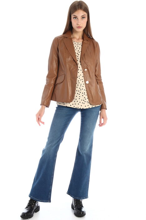 Slim fit leather blazer Intrend