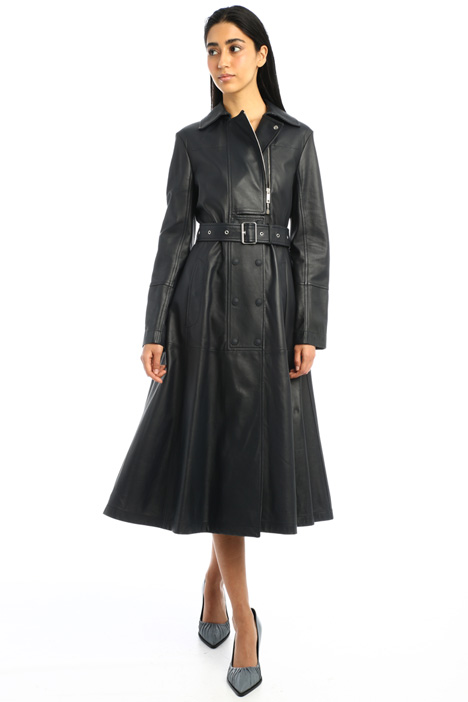 Flared nappa leather dress Intrend