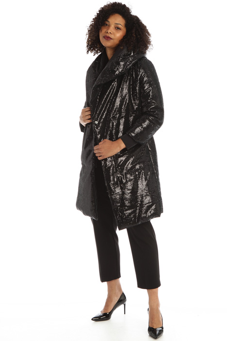 Sequinned puffer coat Intrend