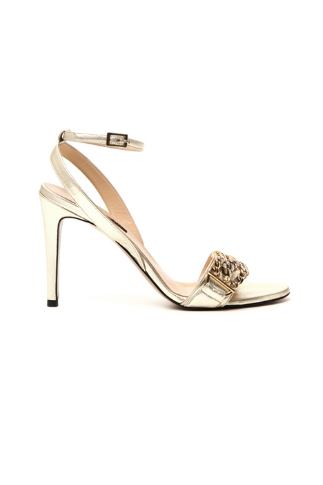 Laminated leather sandals Intrend