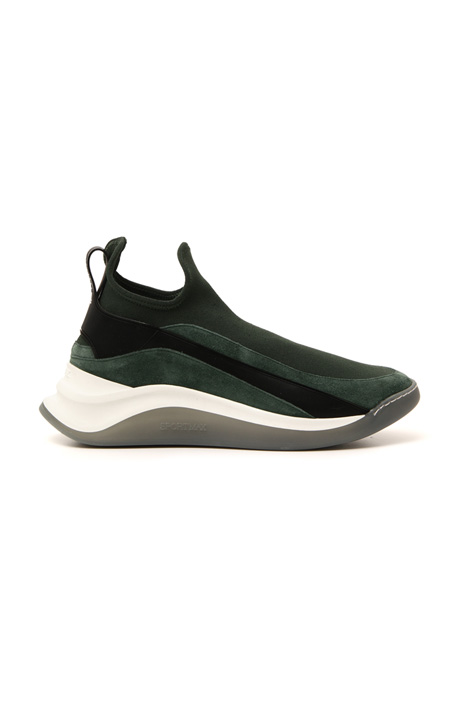 Knit and suede sneakers Intrend