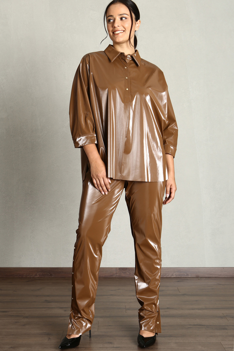 Shiny jersey trousers Intrend