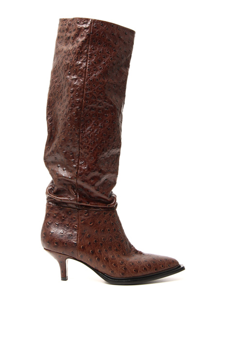 Printed leather boot Intrend