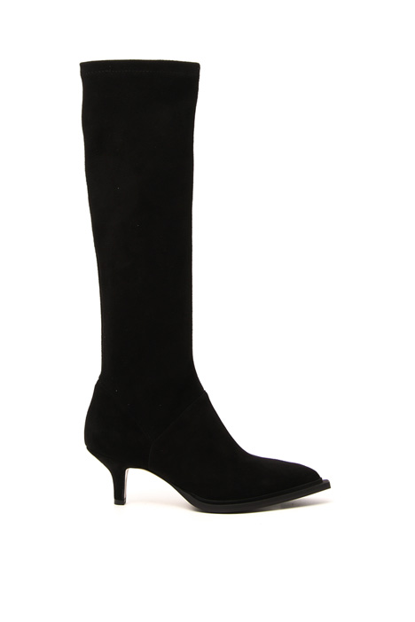 Stretch suede boots Intrend