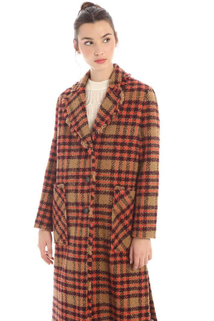 Long bouclé coat Intrend