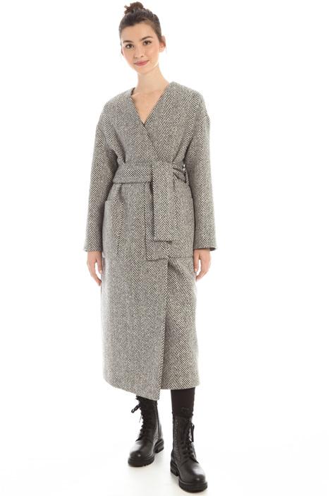 Chevron wrap coat Intrend