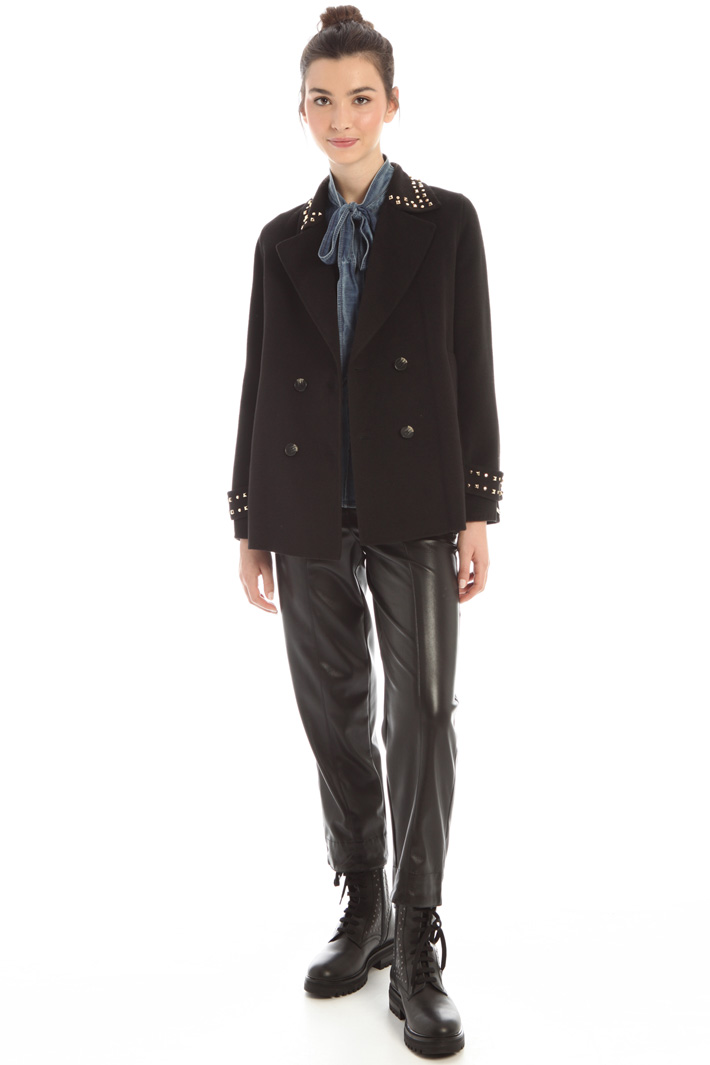 Studded cloth peacoat Intrend