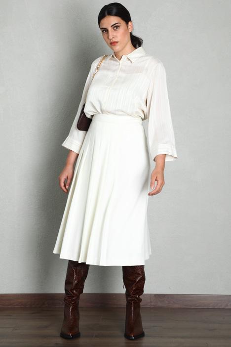 Gabardine wool skirt Intrend