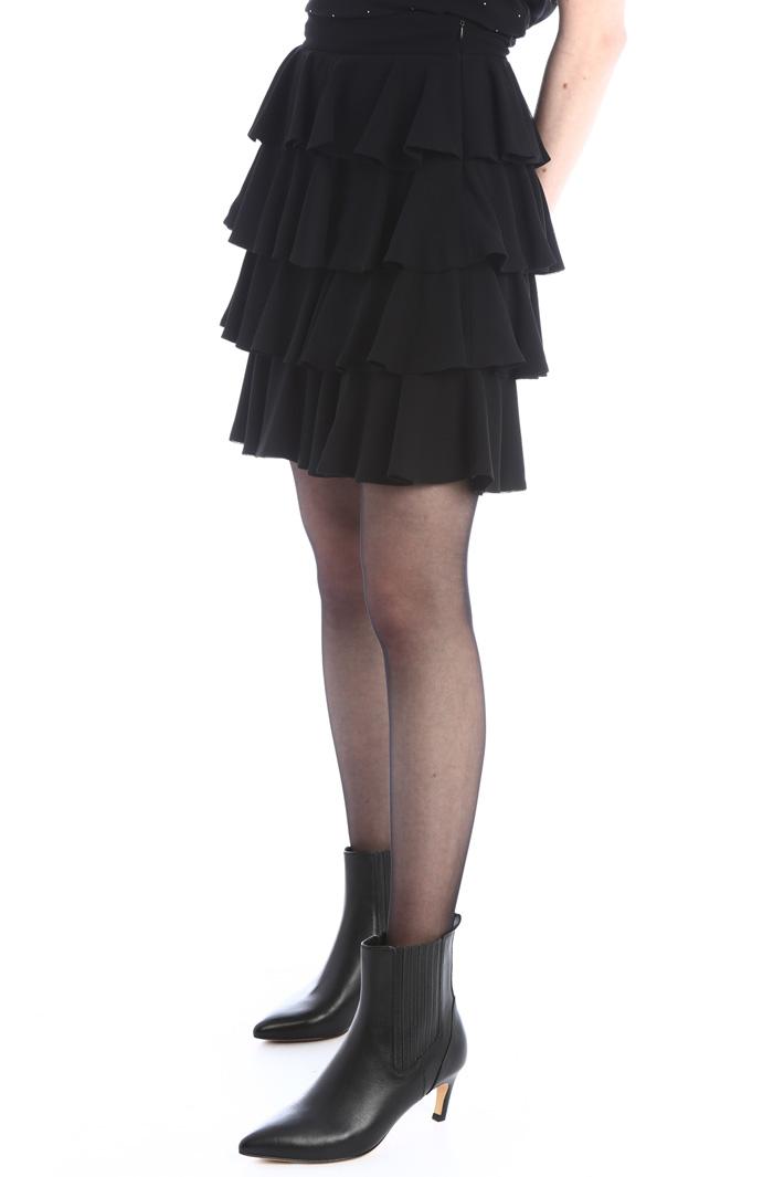 Flounced georgette skirt Intrend