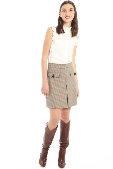 Skirt with inverted pleat Intrend
