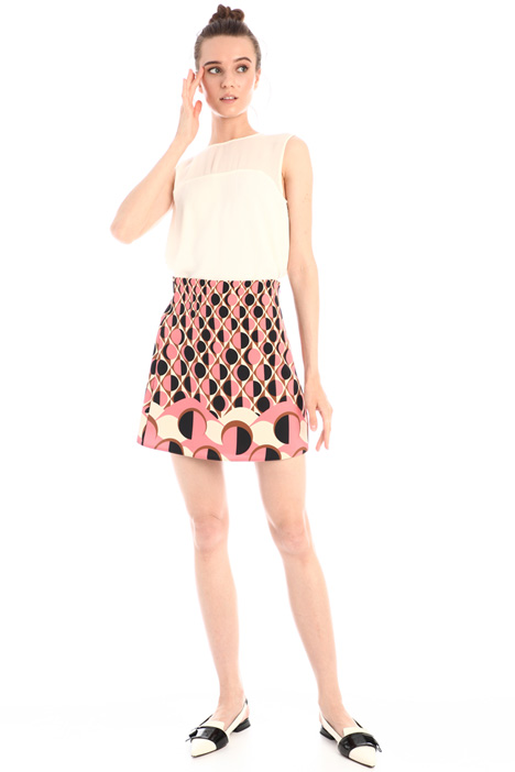 Patterned mini skirt Intrend