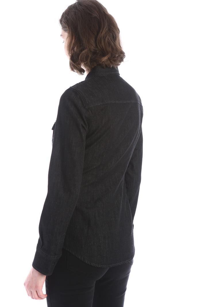 Rhinestone denim shirt Intrend