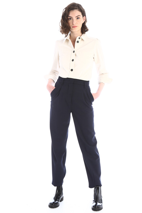 Buttoned velvet shirt Intrend