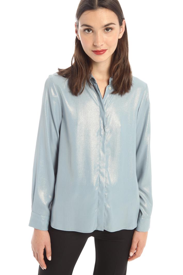 Laminated crepe shirt Intrend