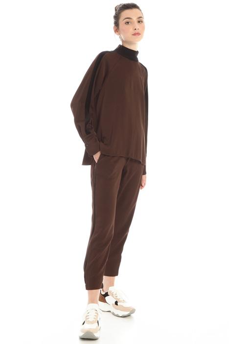 Satin asymmetrical blouse Intrend