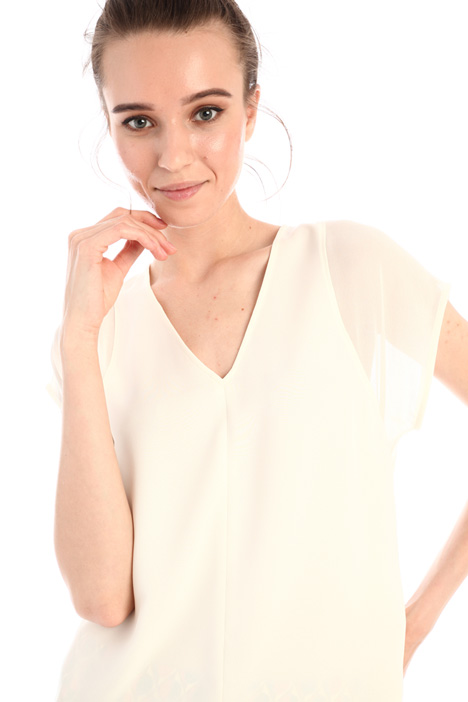 Satin and georgette top Intrend