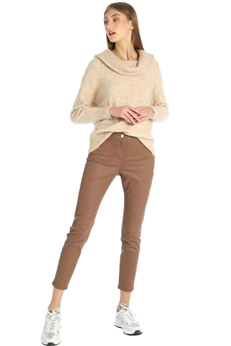 Coated satin trousers Intrend