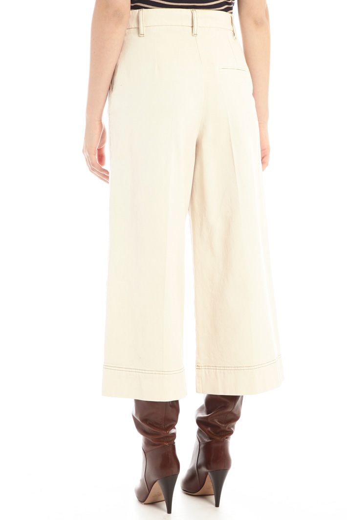 Cropped drill trousers Intrend