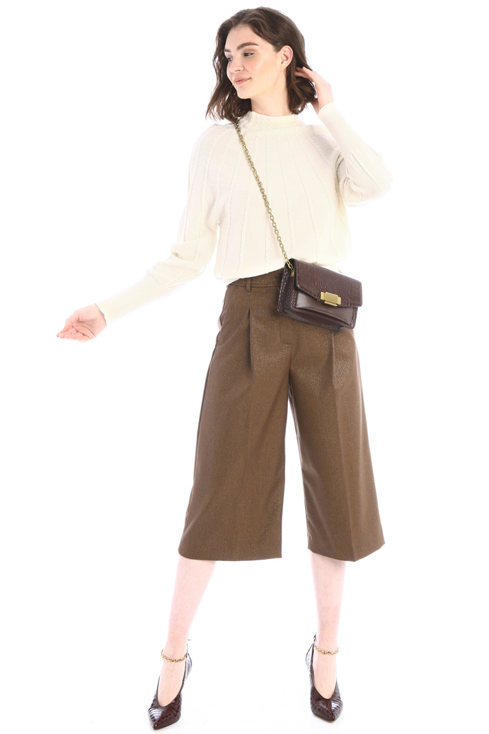 Crop flannel trousers Intrend