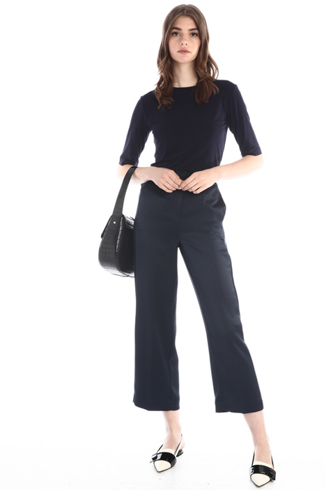 Straight satin trousers Intrend
