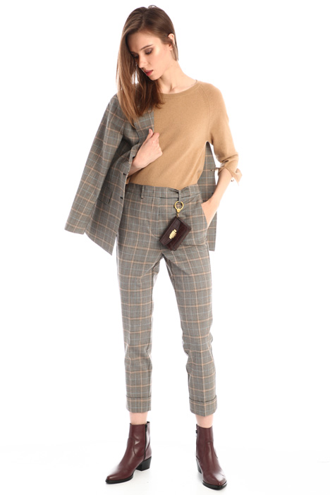 Wool blend cigarette trousers Intrend
