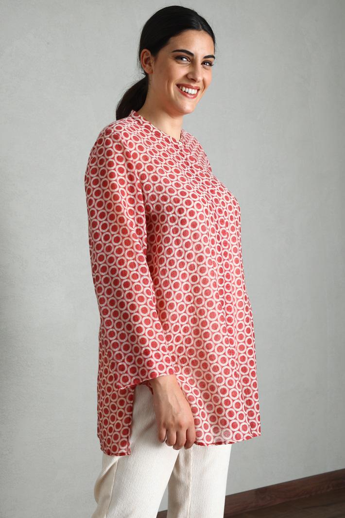 Jacquard wool tunic Intrend