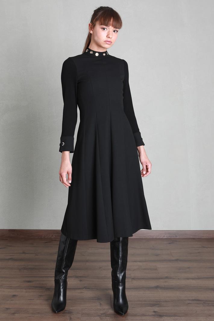 Flared gabardine dress Intrend