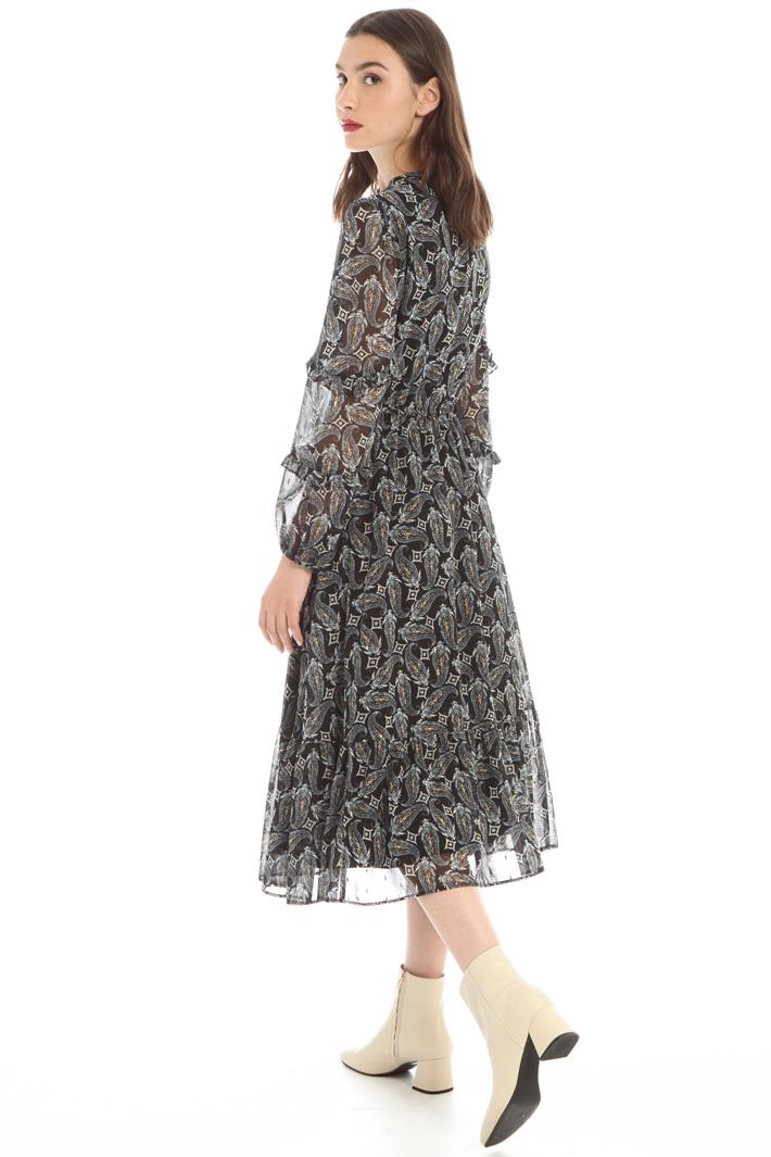 Lurex chiffon dress Intrend