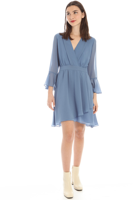 Georgette flounced dress Intrend