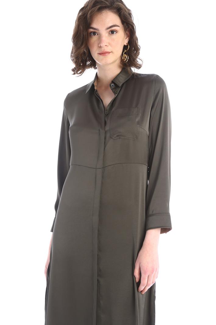 Satin shirt dress  Intrend