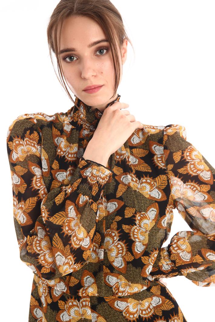 Patterned georgette dress Intrend