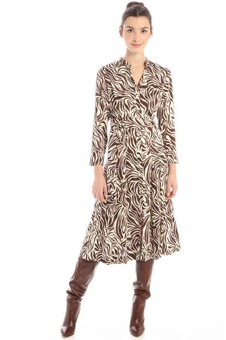 Midi patterned dress Intrend
