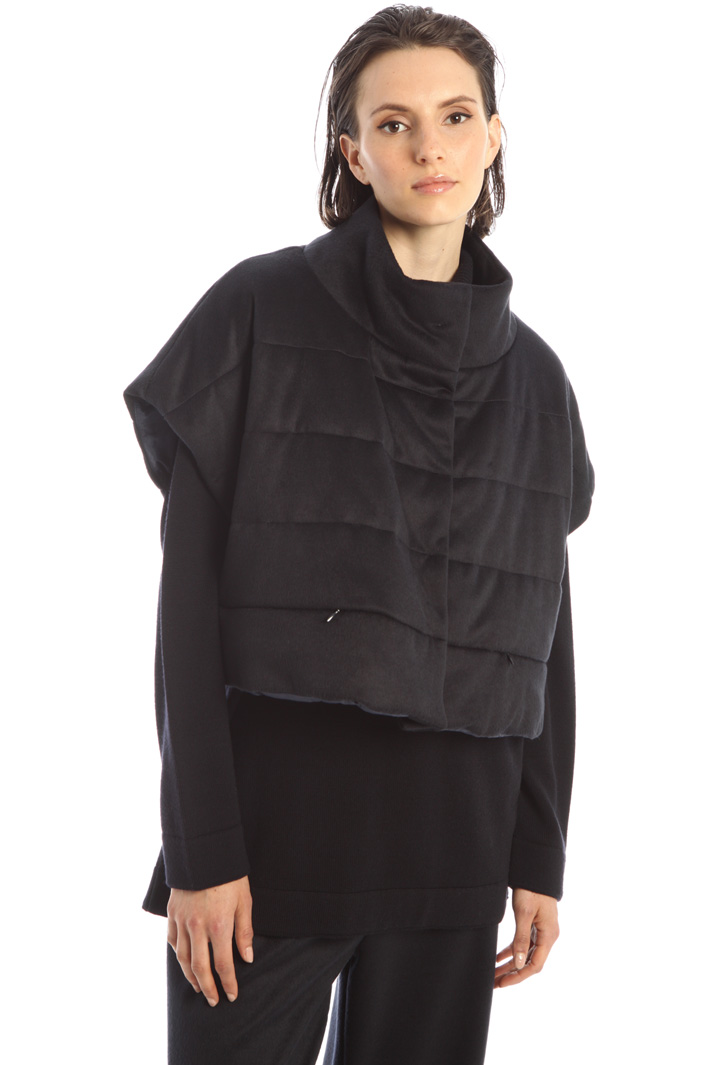 Wool blend fleece gilet Intrend