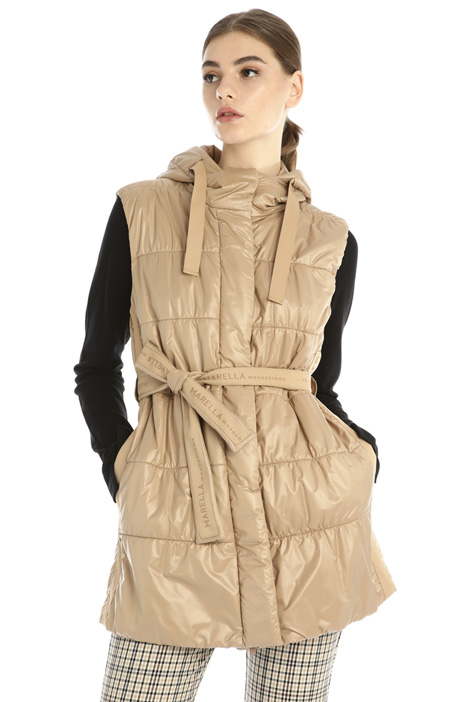 Gilet in tessuto lucido Intrend
