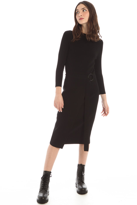 Belted knit dress Intrend