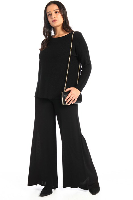 Wide leg knit trousers Intrend