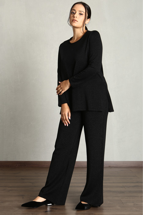 Lurex knit trousers Intrend