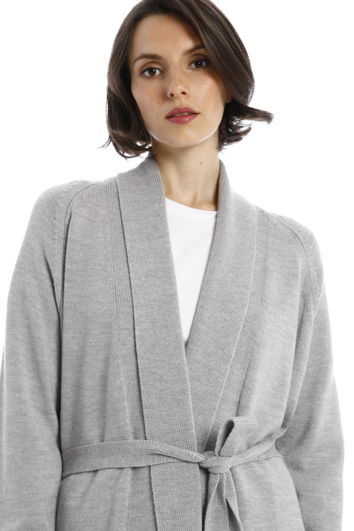 Belted wool cardigan Intrend