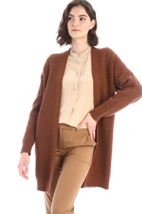 Rhinestone wool cardigan Intrend