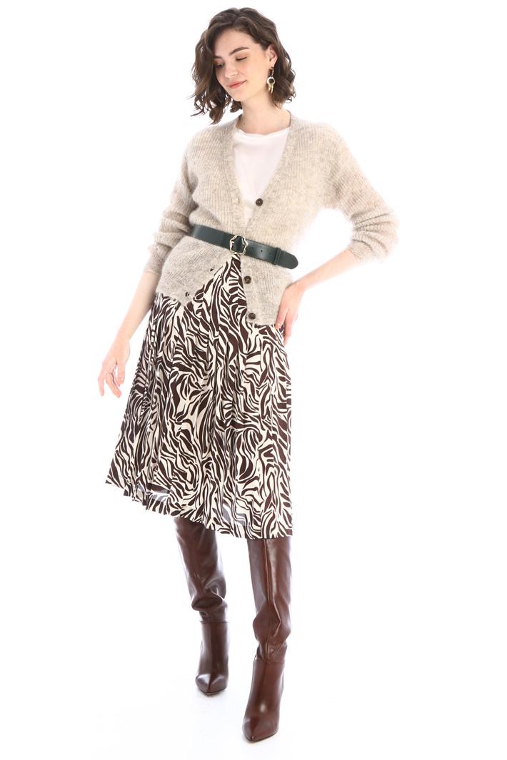 Alpaca and mohair cardigan Intrend