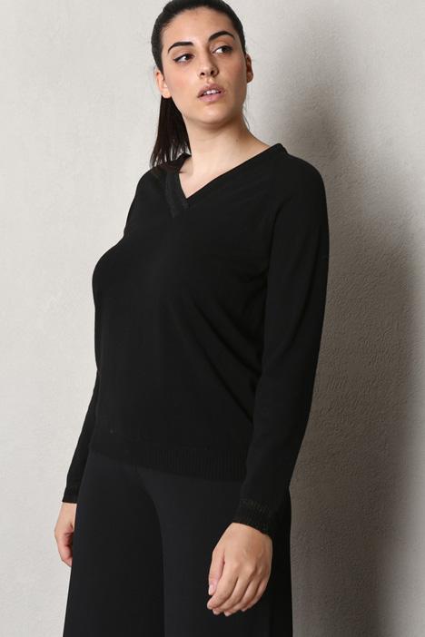 Lurex V-neck sweater Intrend