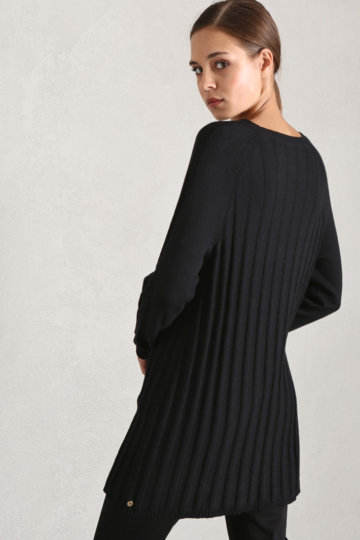Long cotton and wool sweater Intrend