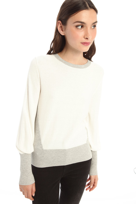 Cotton sweater with inlay Intrend